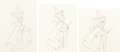 Animation Art:Production Drawing, Sleeping Beauty Fauna, Flora, and Merryweather AnimationDrawings Group of 3 (Walt Disney, 1959).... (Total: 3 Original Art)