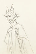 Animation Art:Production Drawing, Sleeping Beauty Maleficent Art Animation Drawing (WaltDisney, 1959)....