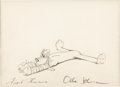 Animation Art:Production Drawing, Pluto Animation Drawing (Walt Disney, 1940s)....