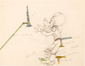 Animation Art:Color Model, Mickey's Amateurs Goofy Color Model Drawing (Walt Disney,1937)....