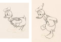 Animation Art:Production Drawing, Donald Duck Animation Drawing Group of 2 (Walt Disney, c.1930s-40s)....