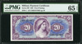 Military Payment Certificates:Series 691, Series 691 $20 PMG Gem Uncirculated 65 EPQ.. ...