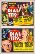 "Movie Posters:Thriller, Dial 1119 (MGM, 1950). Half Sheets (2) (22"" X 28"") Styles A & B. Thriller.. ... (Total: 2 Items)"