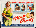 "Movie Posters:Bad Girl, Man Crazy (20th Century Fox, 1953). Half Sheet (22"" X 28""). Bad Girl.. ..."