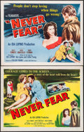 "Movie Posters:Drama, Never Fear (Eagle Lion, 1949). Half Sheets (2) (22"" X 28"") Styles A & B. Drama.. ... (Total: 2 Items)"