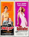"""Movie Posters:Exploitation, Pick-Up & Other Lot (Crown International, 1975). Inserts (2)(14"""" X 36""""). Exploitation.. ... (Total: 2 Items)"""