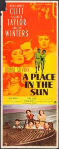 "Movie Posters:Drama, A Place in the Sun (Paramount, 1951). Insert (14"" X 36""). Drama.. ..."