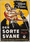 "Movie Posters:Adventure, The Black Swan (20th Century Fox, 1950). First Release DanishPoster (24"" X 33""). Adventure.. ..."
