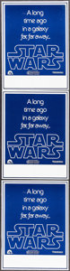 """Movie Posters:Science Fiction, Star Wars (20th Century Fox, 1977). Wild Post Handbills (3)Identical (7.5"""" X 10""""). Science Fiction.. ... (Total: 3 Items)"""
