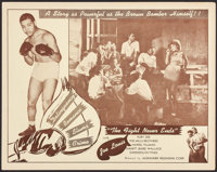"""The Fight Never Ends (Alexander Productions, 1949). Lobby Card (11"""" X 14""""). Black Films"""