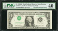 Error Notes:Inverted Third Printings, Fr. 1917-A $1 1988A Web Federal Reserve Note. PMG Extremely Fine40.. ...