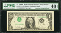 Error Notes:Inverted Third Printings, Fr. 1917-A $1 1988A Federal Reserve Web Note. PMG Extremely Fine 40EPQ.. ...