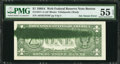 Error Notes:Ink Smears, Fr. 1917-A $1 1988A Web Federal Reserve Note. PMG AboutUncirculated 55 EPQ.. ...