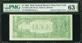 Error Notes:Ink Smears, Fr. 1920-B $1 1993 Wed Federal Reserve Note. PMG ChoiceUncirculated 63 EPQ.. ...