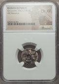 Ancients:Roman Republic, Ancients: Cn. Lucretius Trio (ca. 136 BC). AR denarius. NGC Choice XF....