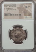 Ancients:Roman Provincial , Ancients: SYRIA. Antioch. Philip I (AD 244-249). BIL tetradrachm.NGC Choice VF....