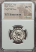 Ancients:Roman Provincial , Ancients: PHOENICIA. Tyre. Trajan (AD 98-117). AR tetradrachm. NGCChoice VF....