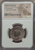 Ancients:Roman Provincial , Ancients: SYRIA. Antioch. Philip II (AD 247-249). BIL tetradrachm. NGC XF....