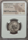 Ancients:Roman Provincial , Ancients: SYRIA. Antioch. Elagabalus (AD 218-222). BIL tetradrachm.NGC XF....