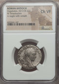 Ancients:Roman Provincial , Ancients: SYRIA. Antioch. Elagabalus (AD 218-222). BIL tetradrachm.NGC Choice VF....