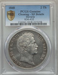 German States:Bavaria, German States: Bavaria. Ludwig I 2 Taler 1848 XF Details (Cleaning)PCGS,...