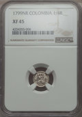 Colombia, Colombia: Charles IV 1/4 Real 1799-NR XF45 NGC,...