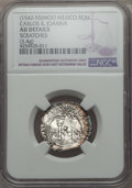 Mexico, Mexico: Carlos & Joanna Real ND (1542-55) AU Details(Scratches) NGC,...