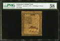 Colonial Notes:Delaware, Delaware January 1, 1776 2s/6d PMG Choice About Unc 58.. ...