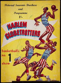 Basketball Collectibles:Programs, 1958-59 Harlem Globetrotters Program - British Tour....