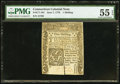 Colonial Notes:Connecticut, Connecticut June 7, 1776 1s PMG About Uncirculated 55 EPQ.. ...