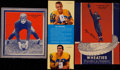 Football Collectibles:Others, 1935-36 Wheaties All-American Duo Plus Circa 1950's Hirsch/Richter Advertising Panel. ...