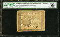 Colonial Notes:Continental Congress Issues, Contemporary Counterfeit Continental Currency September 26, 1778$50 PMG Choice About Unc 58.. ...