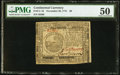 Colonial Notes:Continental Congress Issues, Continental Currency November 29, 1775 $6 PMG About Uncirculated50.. ...
