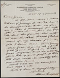 Baseball Collectibles:Others, 1934 Clark Griffith Handwritten Signed Letter. ...