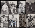 Football Collectibles:Photos, Vintage Post Card Collection (12) with Five Signed. ...