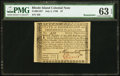 Colonial Notes:Rhode Island, Rhode Island July 2, 1780 $7 PMG Choice Uncirculated 63 EPQ.. ...