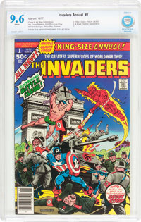 The Invaders Annual #1 (Marvel, 1977) CBCS NM+ 9.6 White pages