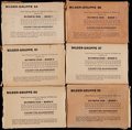 Olympic Cards:General, Circa 1930's Bilder-Gruppe German Cigarettes Picture Packs (9) -Featuring 1936 Olympics....