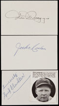 Baseball Collectibles:Others, Baseball Greats Signed Index Cards Lot (550+). ...