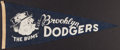 Baseball Collectibles:Others, 1950's Brooklyn Dodgers Full Size Pennant. ...
