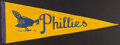 Baseball Collectibles:Others, 1940's Philadelphia Phillies Vintage Pennant. ...