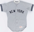 Baseball Collectibles:Uniforms, 1987 Roberto Kelly Game Worn New York Yankees Jersey....