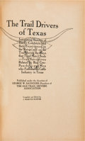 Books:Americana & American History, J. Marvin Hunter. The Trail Drivers of Texas. InterestingSketches of Early Cowboys and their Experiences on...