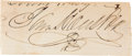 Autographs:Statesmen, Sam Houston Signature Clipped ...