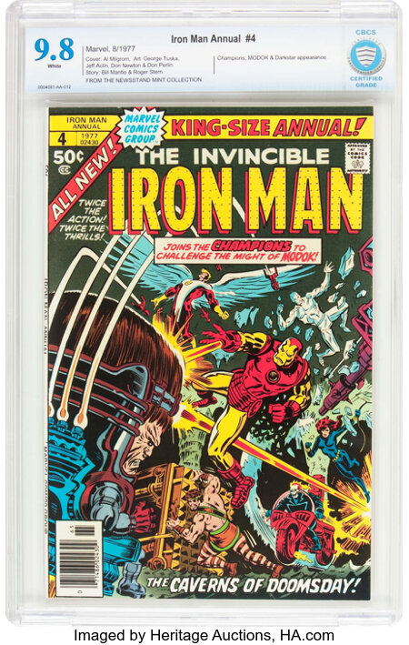 Iron Man Annual #4 (Marvel, 1977) CBCS NM/MT 9.8 White pages....