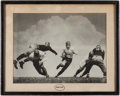 Football Collectibles:Photos, Vintage Football Photograph. ...