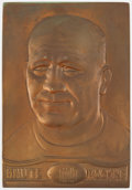 Football Collectibles:Others, 1931 Knute Rockne Plaque from Beaux Art Manufacturing....
