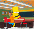 "Animation Art:Production Cel, The Simpsons ""Bart the Lover"" Production Cel Setup (Fox,1992)...."