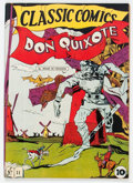 Golden Age (1938-1955):Classics Illustrated, Classic Comics #11 Don Quixote First Edition (Gilberton, 1943)Condition: VG/FN....