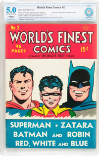 World's Finest Comics #2 (DC, 1941) CBCS Restored VG/FN 5.0 (Slight) Off-white to white pages